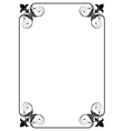 Simple decorative frame vector