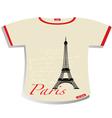 Paris t-shirt vector