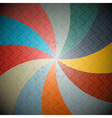 Abstract retro spiral background vector