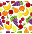 Fruits and berries seamless pattern vector