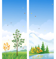 Fall vertical banners vector