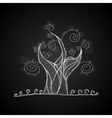 Tree black and white color vector