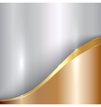 Abstract precious metallic background with curve vector