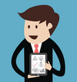 Business man with tablet concept of presentation vector