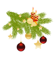 Christmas tree branch vector