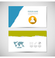 Paper business card template vector