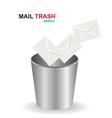 Basket mail trash vector