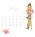 Calendar for may 2014 vector