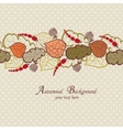 Autumn background with leaves and berries vector