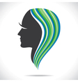 Beautiful women with colorful hair style vector