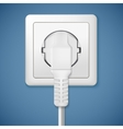 Electrical outlet with plug vector