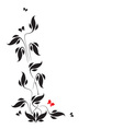 Butterflies and leaves vector