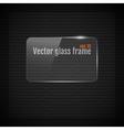 Glass frame background on carbon fiber texture vector