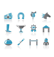 Horse racing and gambling icons vector