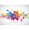 Abstract colored background with circles vector