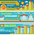 Architecture - real estate - creative banne vector