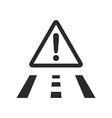 Road danger icon vector