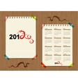 Calendar 2012 dragon symbol for your design vector
