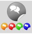 Speech bubble icons think cloud symbols set vector