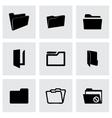 Folder icons set vector