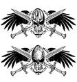 Rugby american football skulls vector