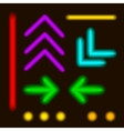 - laser neon colorful lines and elements vector