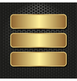 Golden banners vector
