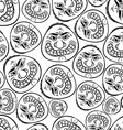 Funny faces seamless background black and white vector