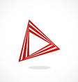 Video play abstract construction logo vector