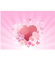 Valentine floral background vector