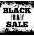 Black friday announcement on grunge ink splattered vector