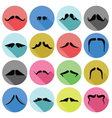 Mustaches icons vector
