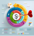 Business step arrow infographics template vector