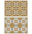 Decorative golden seamless vector