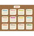 Calendar 2012 for your design vector