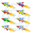 Cartoon space shuttles or space rockets vector