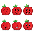 Fruit collection with face expression vector