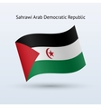 Sahrawi arab democratic republic flag waving form vector