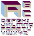 Shelf life font - a-z - 1 of 4 vector