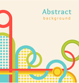 Retro background with color stripes and circles vector