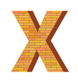 Brick letter x vector