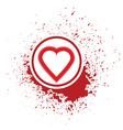Heart icon vector