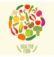 Circle from vegetables healthy food vector