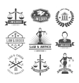 Law labels icons set vector