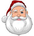 Santa wink face front vector