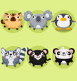 Cartoon and cute animals vector