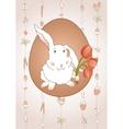 Rabbit with tulips vector
