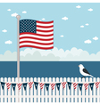Usa coastal scene vector