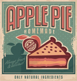 Apple pie vintage poster design vector