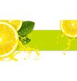 Lemon background vector